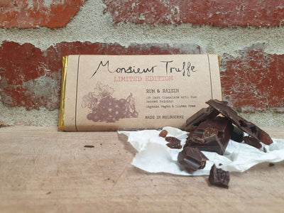 Organic Monsieur Truffe 65% Dark with Rum & Raisin - Vegan - City Chocolates
