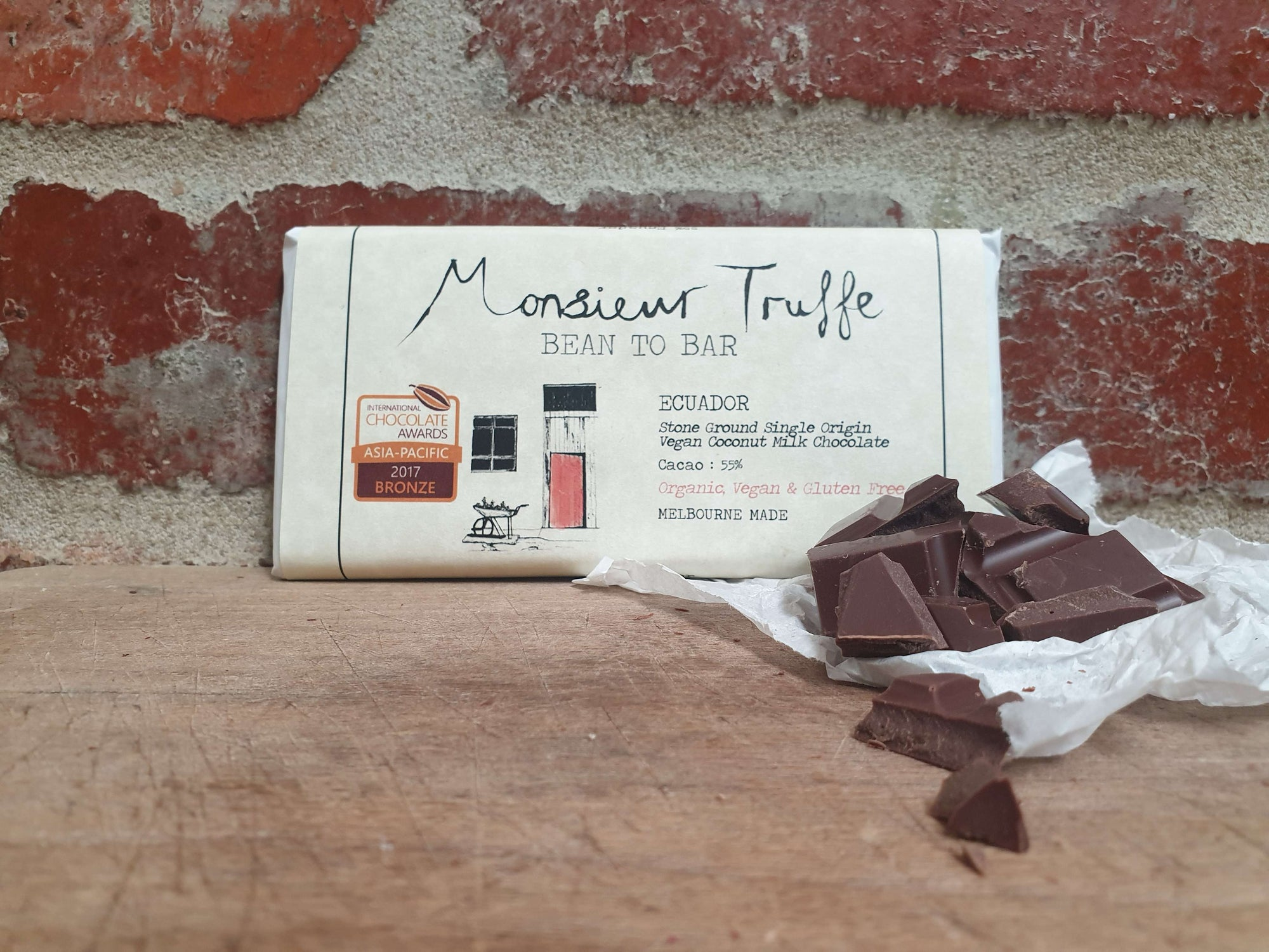 Organic Monsieur Truffe - Single Origin 55% Coconut Milk Ecuador - Vegan - City Chocolates