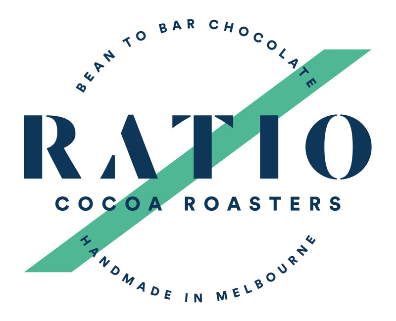 Ratio Cocoa - Macadamia and Lemon Myrtle 63% Dark Bar - Vegan - City Chocolates