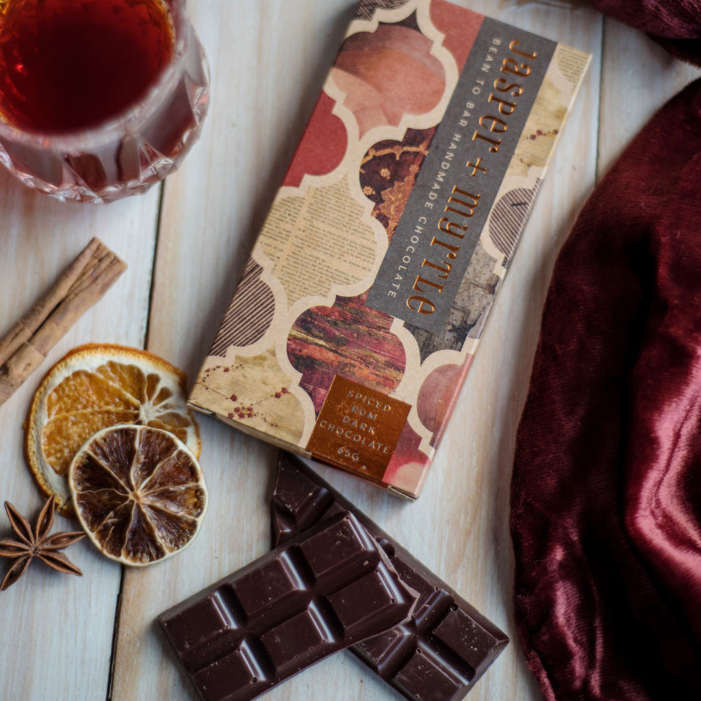 Jasper + Myrtle  Spiced Rum Dark Chocolate (70g)