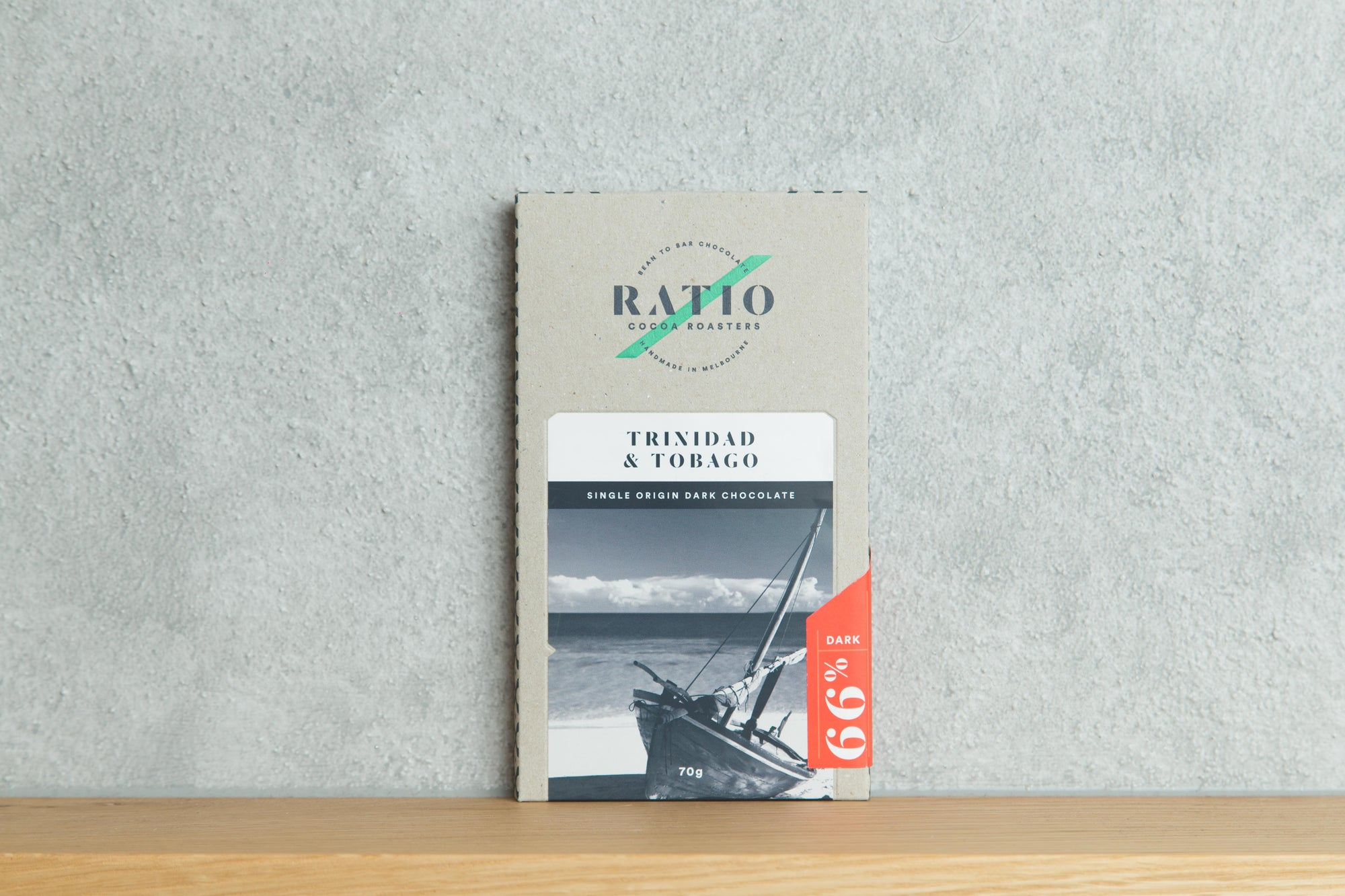 Ratio Cocoa - Trinidad and Tobago 63% Dark Bar - Vegan - City Chocolates