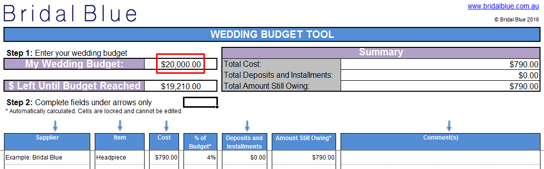 Free Wedding Budget Spreadsheet Screenshot 2
