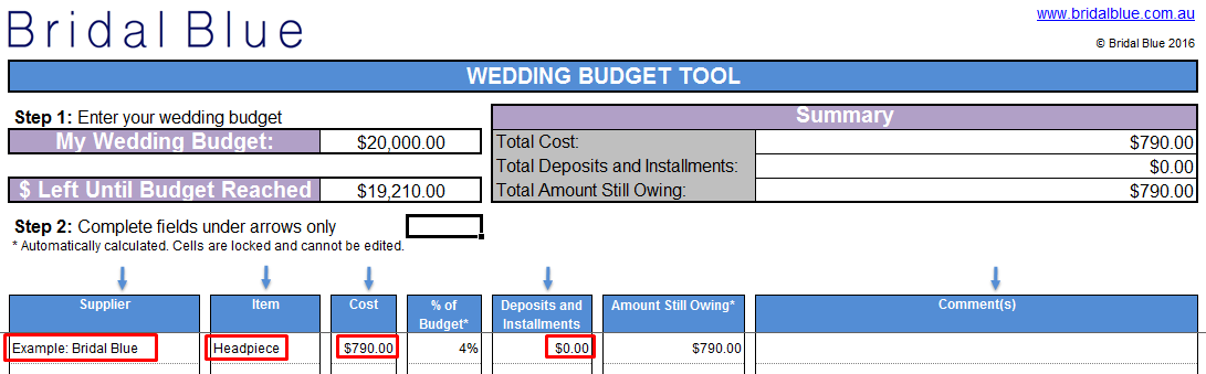 Free Wedding Budget Spreadsheet Screenshot 3