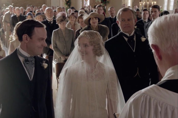 Downton Abbey Lady Edith Bridal Wedding Headpiece and Veil