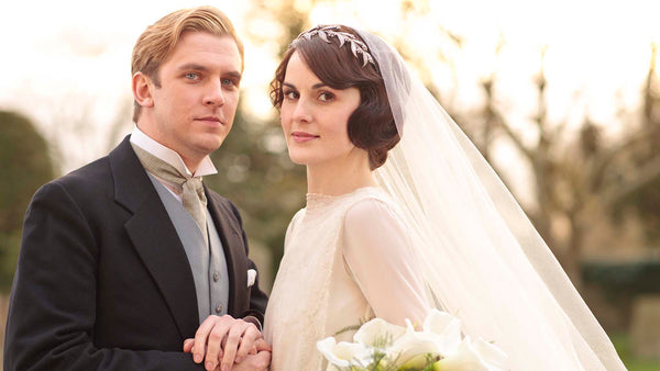 Downton Abbey Lady Mary Bridal Wedding Headpiece and Veil