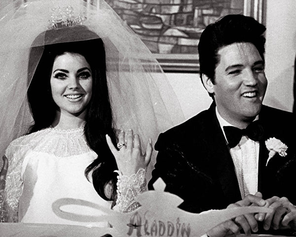Elvis and Priscilla Presley Bridal Wedding Headpiece and Veil