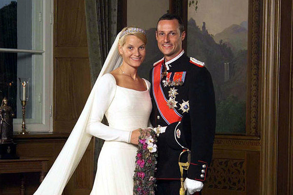 Prince Haakon and Princess Mett Bridal Wedding Headpiece and Veil