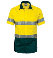 DNC Hi Vis Short Sleeve Shirt with Tape
