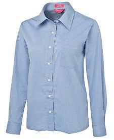 Ladies L/S Fine Chambray Shirt