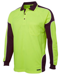 JB's Wear Long Sleeve Hi Vis Polo