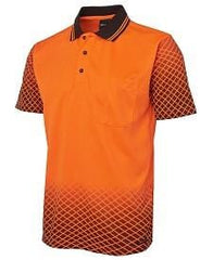 JBs Wear Hi Vis Net Sub Polo
