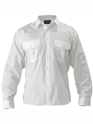 Bisley Epaulette Long Sleeve Shirt