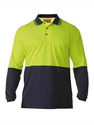 Bisley Hi Vis Long Sleeve Polo