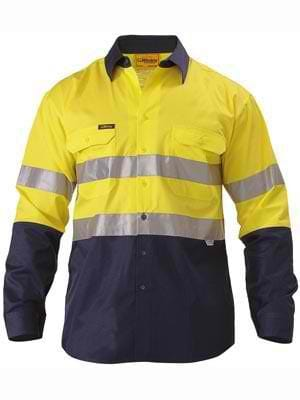 Bisley Hi Vis Shirt with Tape Lightweight