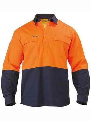 Bisley Hi Vis Closed Front Shirt