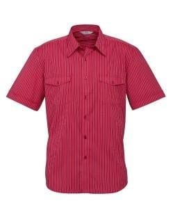 Biz Collection Mens Cuban Short Sleeve Shirt