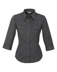 Biz Collection Ladies Cuban 3/4 Sleeve Shirt