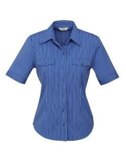 Biz Collection Ladies Cuban Short Sleeve Shirt