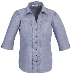 S267LT Ladies 3/4 Sleeve Edge Shirt - OZ Workwear