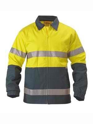 Bisley Hi Vis Drill Jacket with Tape