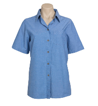 Biz Collection Wrinkle Free Chambray Short Sleeve Shirt