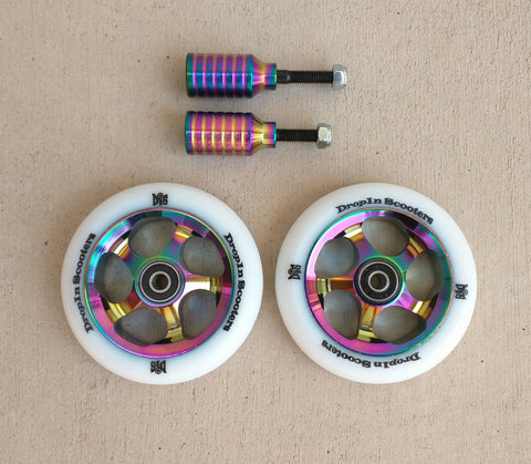 DIS 110mm Oil Slick Wheels and Pegs Set