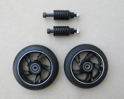DIS 110mm Black 10-spoke Park Wheels and Pegs Set