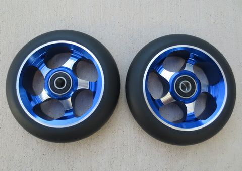 DIS 110mm 5-spoke Metal Core Prak Wheels – Blue