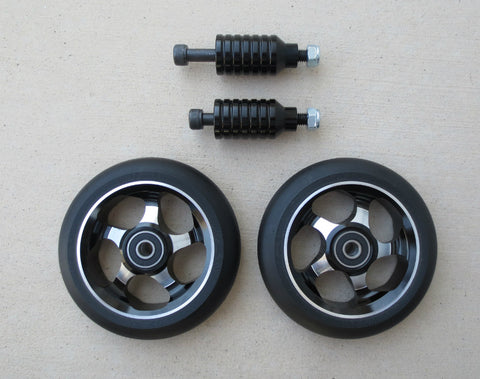 DIS 110mm Black 5-spoke Park Wheels and Pegs Set