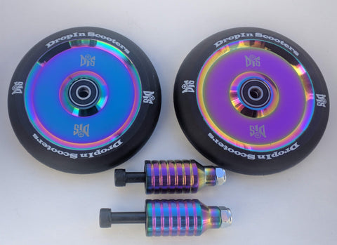 DIS 120mm Hollow Slicks and Pegs Package – Black Rainbow Metallic