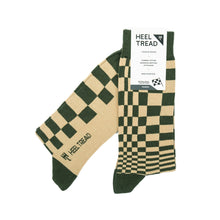 Heel Tread Pasha (Olive/Tan) Socks