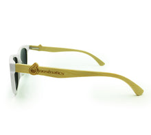 Boostnatics Bamboo Boosted Turbo Shades - White / Polarized Blue