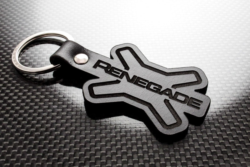 Leather Keychain for Jeep Renegade