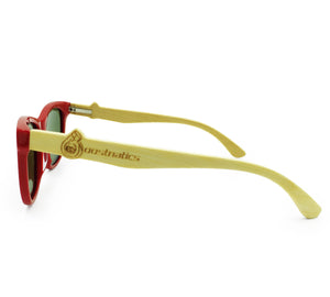 Boostnatics Bamboo Boosted Turbo Shades - Red / Polarized Blue