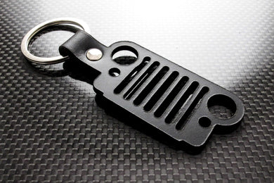 Leather Keychain for Jeep Grille (Cut)