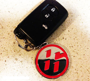 Toyota/Scion/Subaru FT86 FRS BRZ 2 Sided Keychain - Red