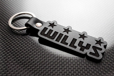 Leather Keychain for Jeep Willys