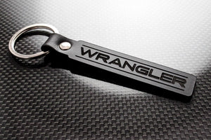 Leather Keychain for Jeep Wrangler