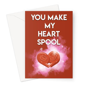 Turbo Heart Spool Greeting Card (V1)