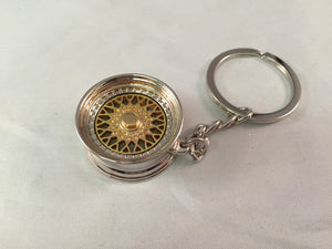 BBS Alloy Wheel Keychain - Gold