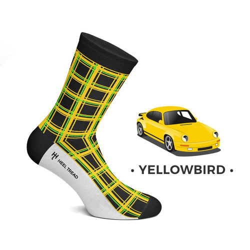 Heel Tread Yellow Bird Socks