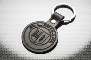 Leather Keychain for BMW Alpina (Symbol)