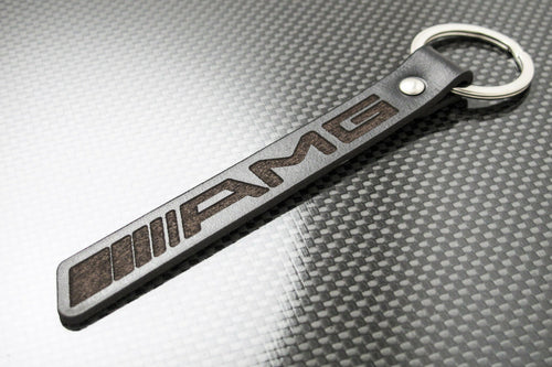 Leather Keychain Keyring for Mercedes-Benz AMG