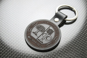 Leather Keychain for Mercedes-Benz AMG (Symbol)