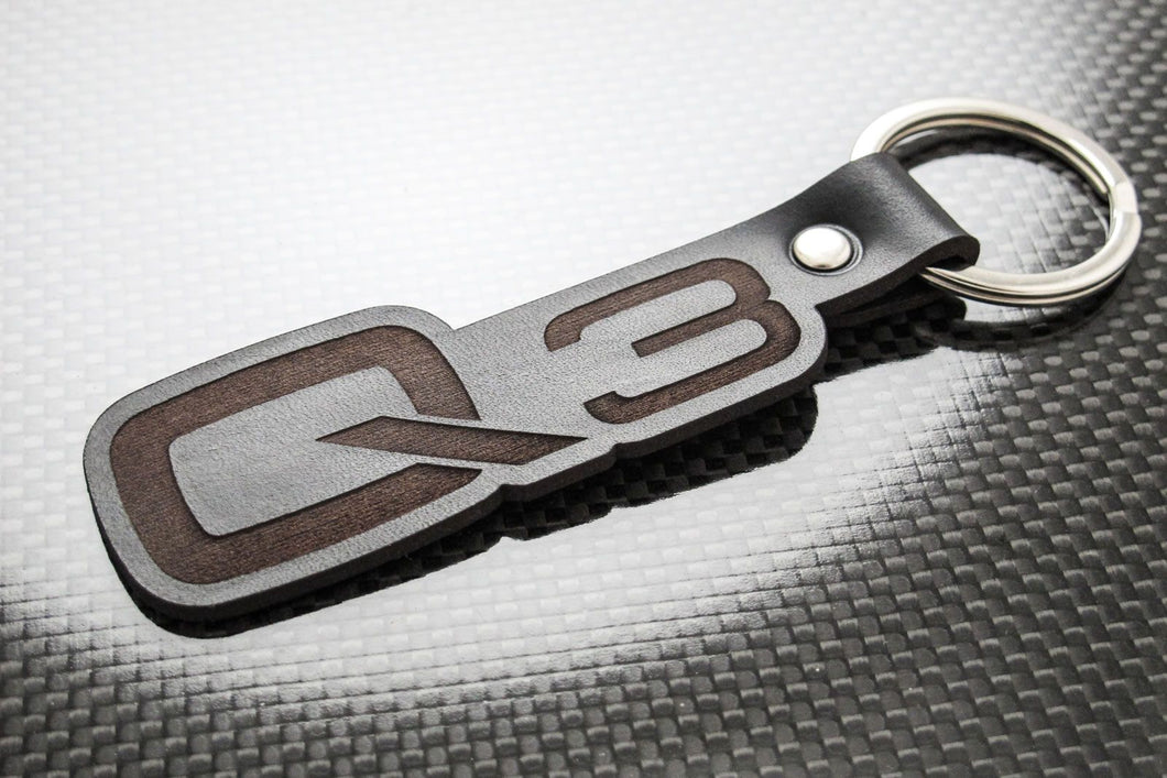 Leather Keychain for Audi Q3