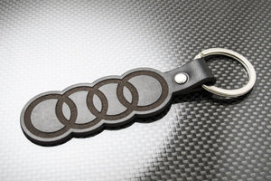 Leather Keychain for Audi Rings
