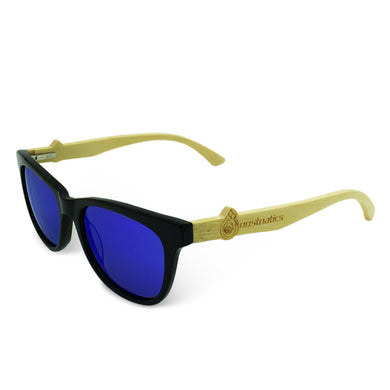 Boostnatics Bamboo Boosted Turbo Shades - Black / Polarized Blue