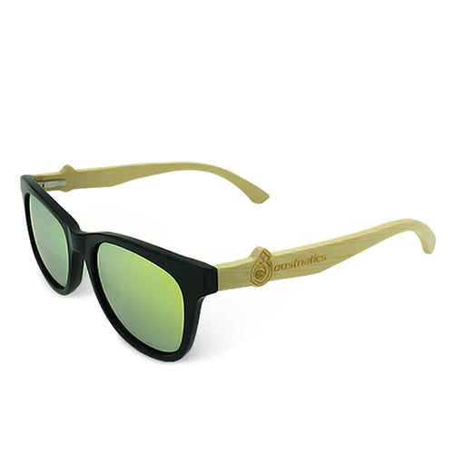 Boostnatics Bamboo Boosted Turbo Shades - Black / Polarized Gold