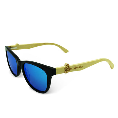 Boostnatics Bamboo Boosted Turbo Shades - Black / Polarized Ice Blue