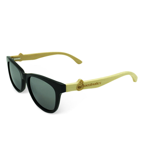 Boostnatics Bamboo Boosted Turbo Shades - Black / Polarized White